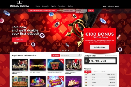 Royal Panda Casino screenshot